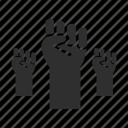 aggressive, fight, freedom, hand, liberate, protect, protest icon