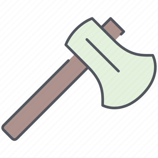 axe, camping, cutting, equipment, expedition, survival, wood icon
