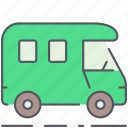 camping, caravan, expedition, outdoor, survival, trailer, wagon icon