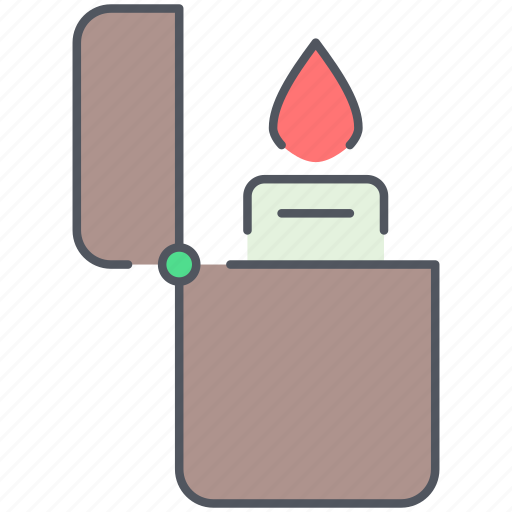 camping, expedition, fire, flame, lighter, outdoor, survival icon