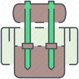 backpack, camping, expedition, hiking, knapsack, outdoor, rucksack icon