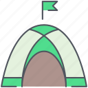 adventure, camping, expedition, mountain, nature, outdoor, tent icon