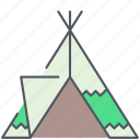camping, expedition, native, outdoor, survival, tent, tribal icon