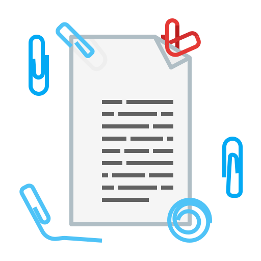 clip, document, page, paper, text icon