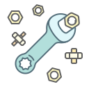 nut, repair, service, settings, tool, wrench icon