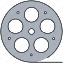cinema, film, filmroll, filmstrip, movie, reel, video icon