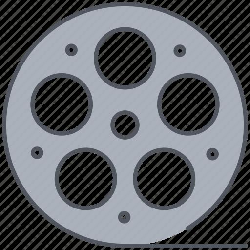 cinema, film, filmroll, filmstrip, movie, reel, video icon