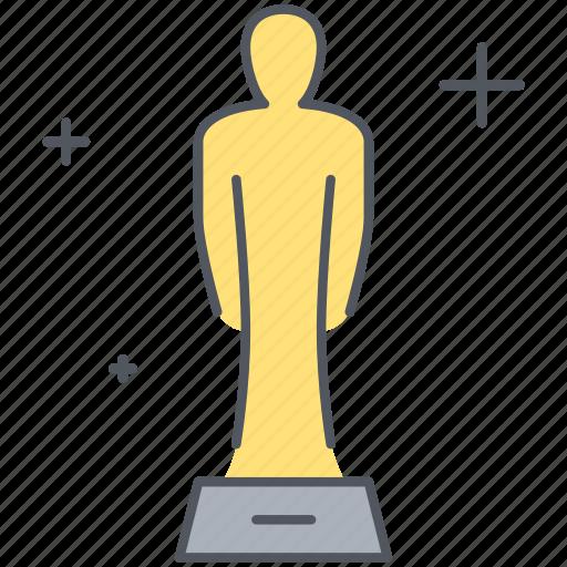 achievement, actor, award, film, movies, oscar, star icon
