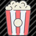 cinema, entertainment, film, movie, multimedia, night, popcorn icon