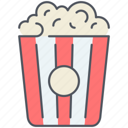 cinema, entertainment, film, movie, multimedia, night, popcorn icon