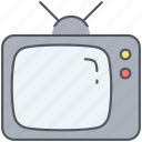 cinema, display, entertainment, film, movies, television, tv set icon
