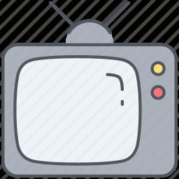 cinema, display, entertainment, film, movies, television, tv set icon
