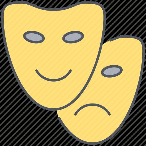 cinema, entertainment, film, masks, movies, performance, theatre icon