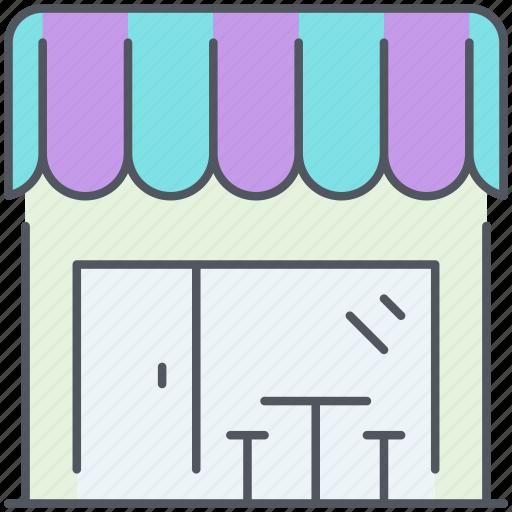 bar, boutique, cafe, city, kiosk, shop, urban icon