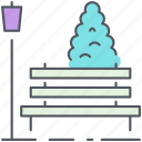 bench, city, city park, park, recreation, relaxation icon