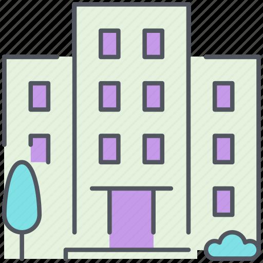 building, city, condomnium, homes, residential, structure, urban icon