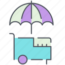 city, icecream, icecream stand, lemonade stand, park, stand icon