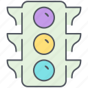 city, control, crossroad, intersection, regulation, street light, streetlight icon