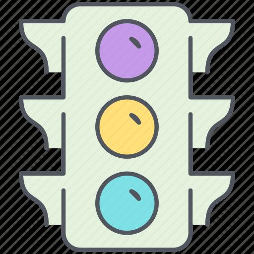 city, control, crossroad, intersection, regulation, street light, streetlight icon