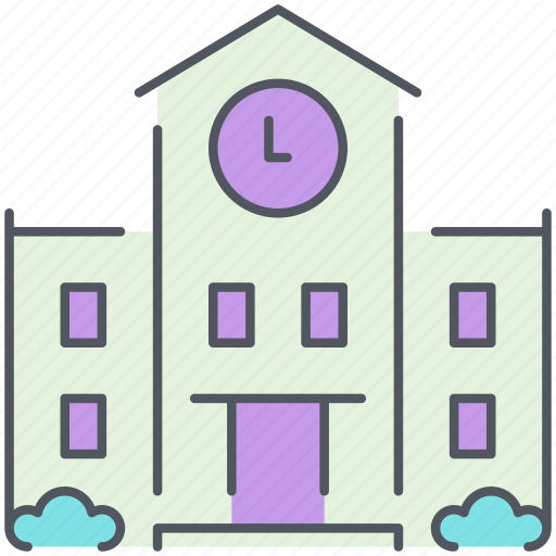 building, city, government, library, school, townhall, university icon