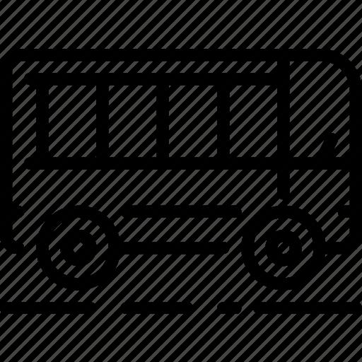 bus, city, drive, public transport, transportation, vehicle icon