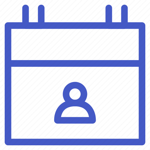 calendar, date, employee, people, schedule, time, user icon
