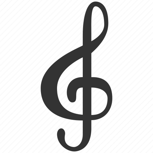 clef, key, melody, music, musical, note, song icon