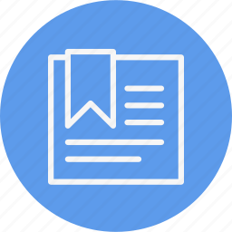 agenda, bookmark, document, navigation, note, sign icon