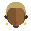 african, avatar, face, girl icon