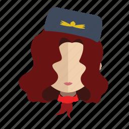 air, avatar, face, girl, hostess icon