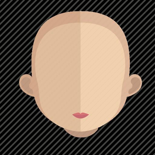avatar, bald, face, girl, head icon