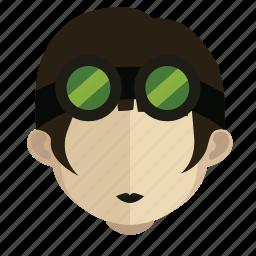 avatar, bike, face, girl icon