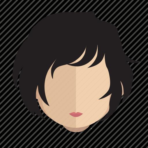 avatar, curls, face, girl icon