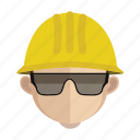 avatar, construction, face, guy, work icon