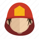 avatar, face, fireman, guy icon