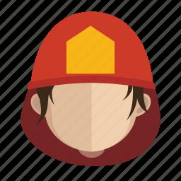 avatar, face, fireman, guy icon