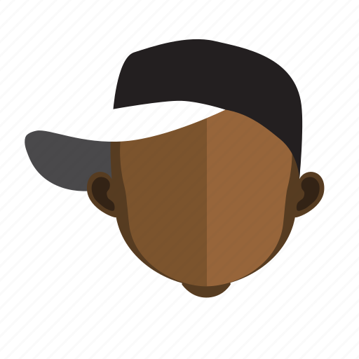 african, face, guy, hat icon