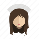 avatar, face, girl, nurse icon