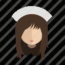 avatar, face, girl, nurse