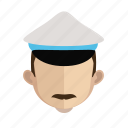 avatar, face, guy, police icon
