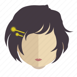 avatar, face, girl, pretty icon