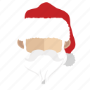 avatar, face, guy, santa icon