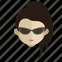 avatar, face, girl, spy