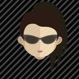 avatar, face, girl, spy icon