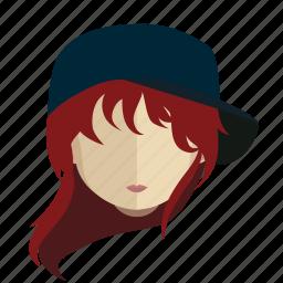 avatar, face, girl, tomboy icon