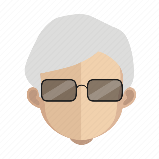 avatar, face, guy, hair, white icon