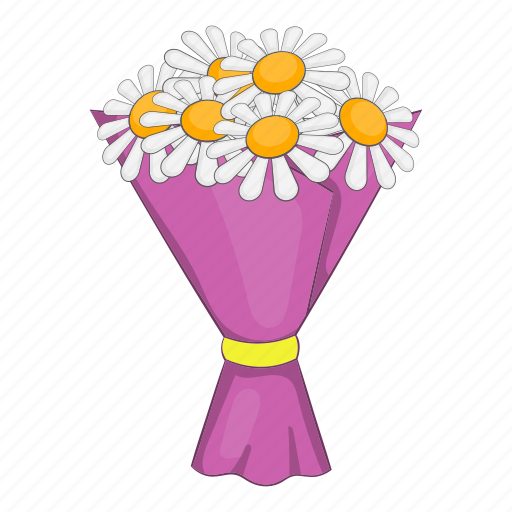 Blossom Bouquet Cartoon Flowers Nature Object Sign Icon