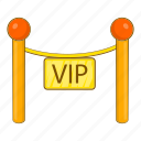 cartoon, decorative, object, poles, sign, tape, vip icon