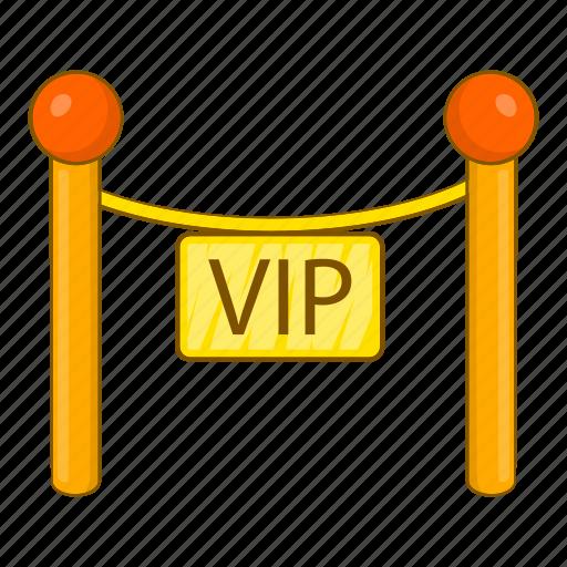 cartoon, decorative, object, poles, sign, tape, vip icon
