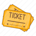 cartoon, cinema, entertainment, film, object, sign, ticket icon